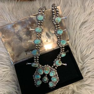 thomas fransisco Jewelry - New • genuine turquoise sterling squash blossom